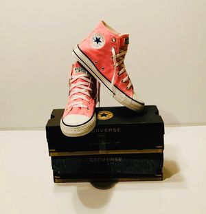 Converse all-Star Chuck Taylor Hi - Pink / size man 7 women 8.5 for Sale in Los Angeles, CA