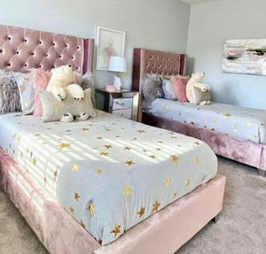 Brand NEW! !Aiden Pink Twin Bed🌸Queen,King,Full and Twin size available🌸WE HAVE LOTS OF COLOR OPTIONS🌸Store and online order,Financing,Delivery for Sale in Houston, TX