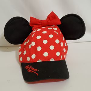 Disney Parks Authentic Minnie Mouse Ears Polka Dot Girls Baseball Hat Cap ~ NWT for Sale in La Grange, IL