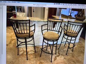 3 Swivel bar stools with armrest for Sale in Scottsdale, AZ