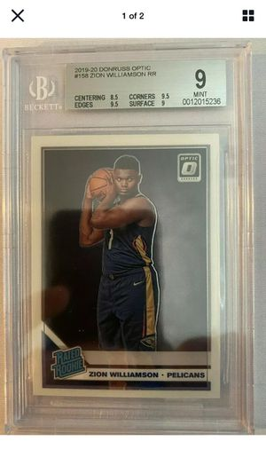 ZION WILLIAMSON optic rated rookie mint GRADED 9 Rare HOT!!! for Sale in Los Angeles, CA