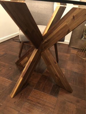 Pier 1 Tempered Glass Top Dining Table & Chairs for Sale in Washington, DC