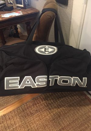 Large Easton baseball sports bag 40 x 20 with exterior side pockets bats gloves balls for Sale in Ruston, WA