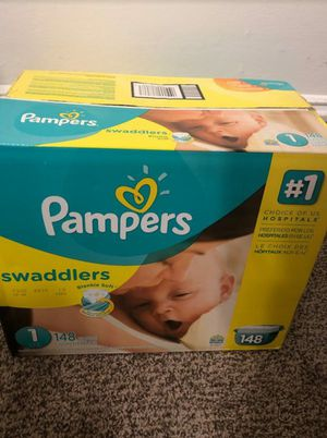 Pampers Swaddlers size #1 (148 pañales for Sale in Vallejo, CA