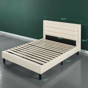 KING SIZE BED FRAME ONLY TAUPE for Sale in Fort Worth, TX
