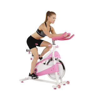 sunny health and fitness P8150 pink premium indoor exercise cycling bike for Sale in Austin, TX