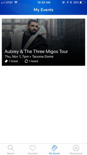 Drake and migos ticket. General admission for Sale in Richland, WA