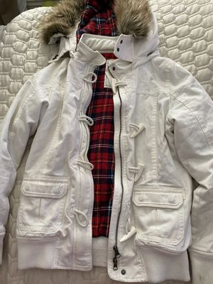 Woman's - size large jacket - fleece warm plaid inside - worn few times for Sale in Ontario, CA