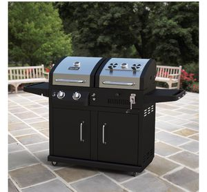 Dyna-glo dual fuel charcoal and gas bbq grill for Sale in Brooklyn, NY