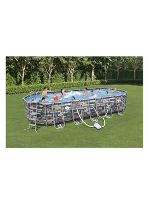 """Coleman 26' x 12' x 52"""" Power Steel Oval Above Ground Swimming Pool Set with WiFi Pump & pool cover for Sale in Inkster, MI"""