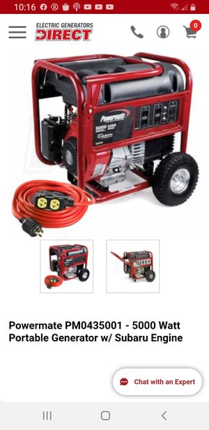 Powermate 5000 subaru generator for Sale in Stanwood, WA