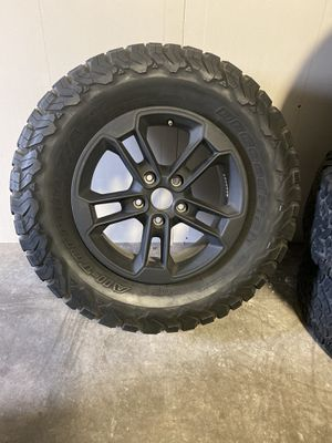 Jeep wheels and tires. All 5 available for Sale in Richmond, TX