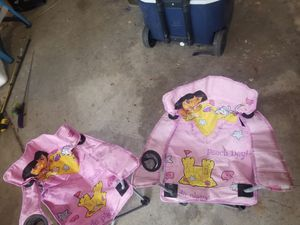 Dora kids chairs price is for both for Sale in Roselle, IL