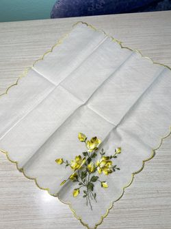 Vintage Hand Embroidered Handkerchief for Sale in Chesterfield,  MO
