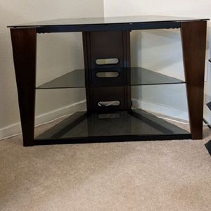 TV Stand and/or Corner Shelf- Wood, Glass, and Metal for Sale in Everett, WA