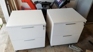 2 lateral file cabinets wood for Sale in Wood Dale, IL
