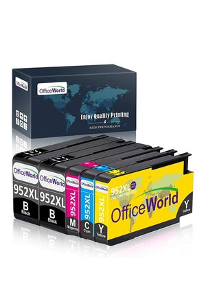 OfficeWorld Compatible Ink for HP 952 XL 952XL, HP Officejet Pro 8710 8720 8702 8715 8740 7740 7720 8730 8210 8216, 5pack for Sale in Albuquerque, NM