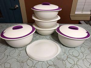 Tupperware Set- (2) 4.1L & (3) 3.1L for Sale in Houston, TX
