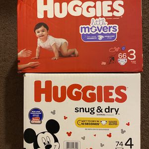 Huggies size 3 and 4 $23 each for Sale in Westminster, CA