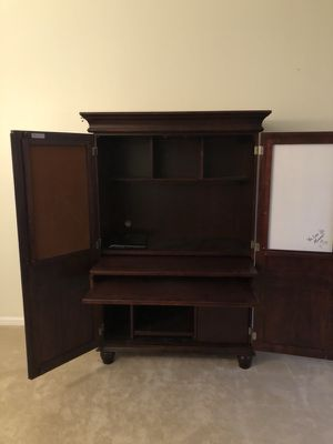 Solid wood computer armoire $300 for Sale in Jacksonville, FL