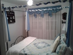 Queen Bed, Frame, box spring and night stands for Sale in Williamsburg, VA