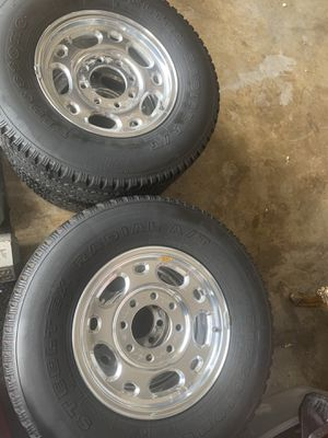 Rims and tires 16 inches 8 Lugs for Sale in Port St. Lucie, FL