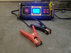 NEW CONDITION Stanley 15 Amp Battery Charger with 50 Amp Engine Start (bc50bs), Black for Sale in Puyallup, WA