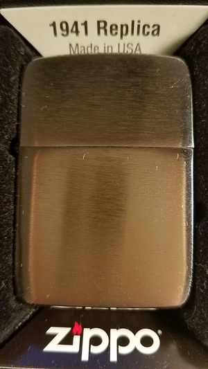 Zippo 1941 replica vintage brushed chrome 1941 for Sale in Los Angeles, CA