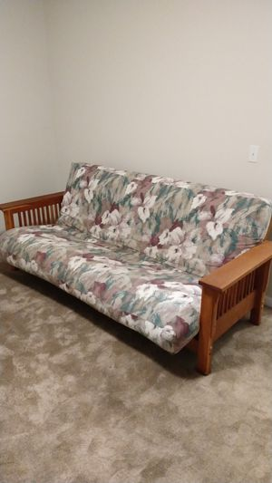Futon frame and pad for Sale in SeaTac, WA