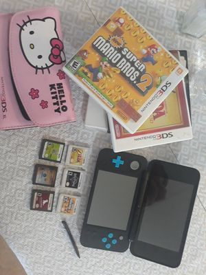 NEW 3DS XL + 6 GAMES/CHARGER/CASE for Sale in Mount Selman, TX