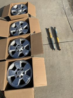 4 17X8.5 Stock Toyota Tacoma 2nd Gen Rims + 2 Stock Shocks for Sale in Chula Vista,  CA