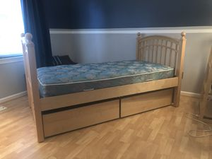 Maple bunk beds with large storage drawers for Sale in Lorton, VA