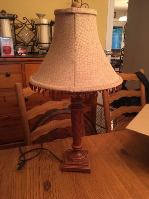 Lamp with cute shade guc for Sale in Newport News, VA