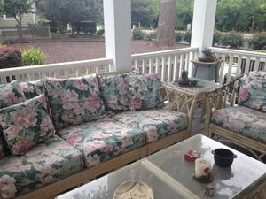 5 piece Bamboo outdoor seating for Sale in Silver Spring, MD