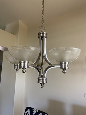 Brushed nickel chandelier for Sale in Phoenix, AZ