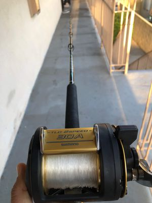 Shimano 2 speed fishing reel and fishing rod combo for Sale in Anaheim, CA