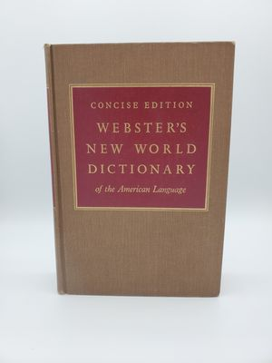 VINTAGE WEBSTER'S NEW WORLD DICTIONARY OF THE AMERICAN LANGUAGE EDITION for Sale in Westminster, CO