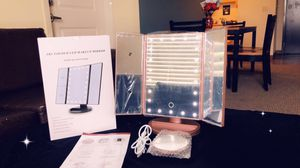 Vanity Makeup Mirror Touchscreen 21 LED Lights 1X/2X/3X/ Small 10X magnifying Glass. for Sale in Washington, DC