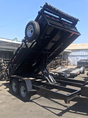 Brand new 8.5x14x2 HD dump trailer for Sale in Rancho Cucamonga, CA