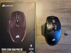 CORSAIR - DARK CORE RGB PRO SE Wireless Optical Gaming Mouse Qi Charging for Sale in Alhambra, CA