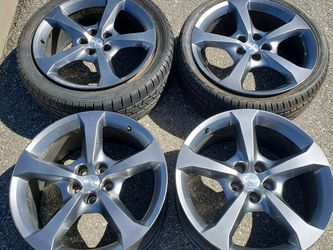 20 Inch Chevrolet Camaro Rims And Tires. Wheels. 5x120mm for Sale in Riverside,  CA