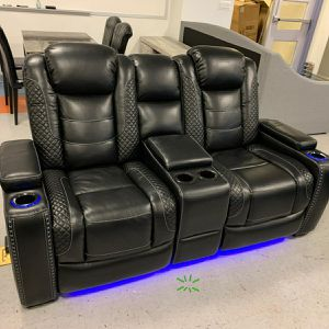Party Time Midnight LED Power Reclining Living Room Set 🚛IN STOCK /FAST DELIVERY ON DISPLAY for Sale in Silver Spring, MD