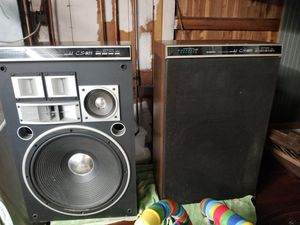 Vintage Pioneer speakers cs803 and receiver for Sale in Everett, WA