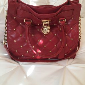 Michael Kors Red Quilted Studded Hamilton for Sale in Clovis, CA