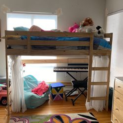 IKEA Loft Style Bed With Twin Mattress for Sale in Santa Ana,  CA
