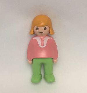 Vintage 1990 Playmobil Geobra chunky klicky woman blonde hair pink green white for Sale in Phoenix, AZ