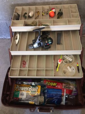Tacklebox fishing reel and tackle for Sale in Henderson, NV