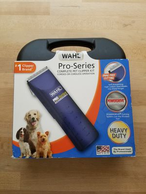 Wahl Home Pet Pro Series Pet Clipper Kit Cordless Rechargeable for Sale in Las Vegas, NV