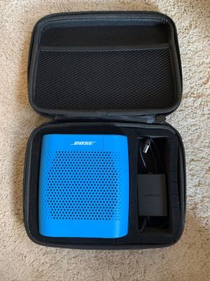 Used/Excellent Condition Bose Soundlink Color Portable Speaker w/ Travel Case & Charger for Sale in Woodinville, WA