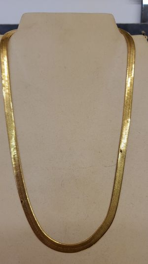 Herring bone chain 18inch. Gold plated for Sale in Pepper Pike, OH